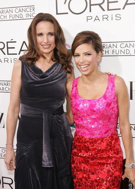 "Andie MacDowell and Eva Longoria at the L'Oreal Paris presents ""A Night of Hope"" to benefit The Ovarian Cancer Research Fund at the Murano."
