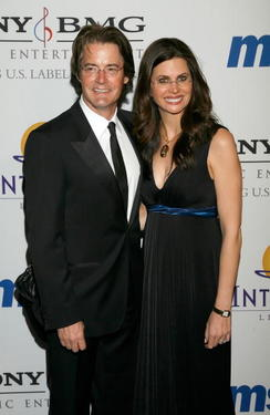 Kyle MacLachlan and wife Desiree Gruber at the Legendary Clive Davis Pre-Grammy Party.
