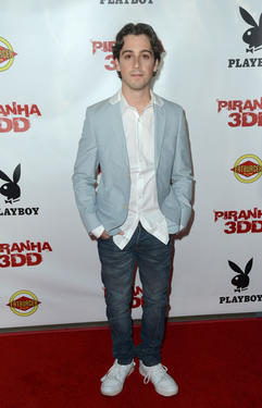 "Matt Bush at the California premiere of ""Piranha 3DD."""