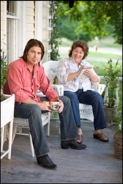 "Billy Ray Cyrus and Margo Martindale in ""Hannah Montana: The Movie."""