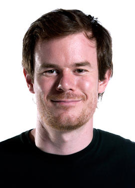 "Director Joe Swanberg on the set of ""V/H/S."""