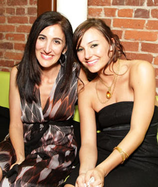 "Producer Jennifer Gibgot and actress Briana Evigan at the after party of the L.A. premiere of ""Step Up 2 The Streets."""