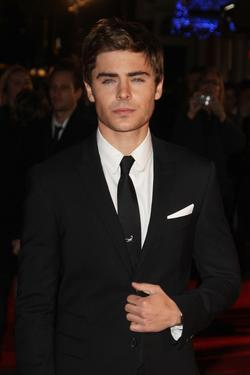 "Zac Efron at the London premiere of ""Me and Orson Welles."""
