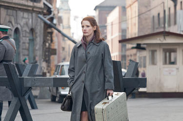 "Jessica Chastain in ""The Debt."""