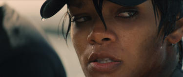 "Rihanna as Raikes in ""Battleship."""