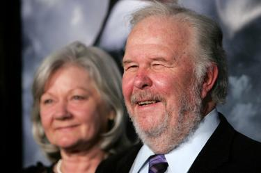 "Ned Beatty and his wife Sandra Johnson at the California premiere of ""Shooter""."