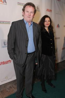 "Colm Meany and his wife Annette at the Third Annual ""Oscar Wilde: Honoring The Irish in Film"" reception."