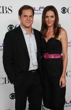 Kyle Bornheimer and Erinn Hayes at the CBS Comedies Season premiere party.