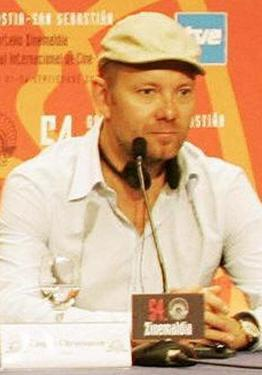 "Casper Christensen at the press conference of ""Direktoren for det hele"" during the San Sebastian International Film Festival."