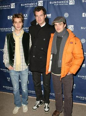 "Luke Grimes, Brett Simon and Vincent Piazza at the premiere of ""Assassination of a High School President"" during the 2008 Sundance Film Festival."