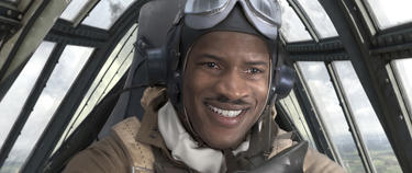 "Nate Parker as Marty 'Easy' Julian in ""Red Tails."""