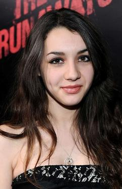 "Hannah Marks at the premiere of ""The Runaways."""