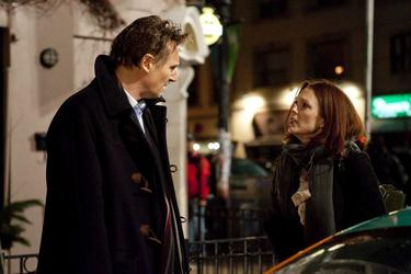 "Liam Neeson as David Stewart and Julianne Moore as Catherine Stewart in ""Chloe."""