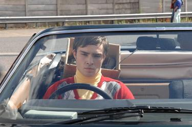 "Ed Westwick as Lawrence in ""Son of Rambow."""