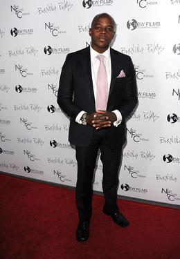"Edrick Browne at the California premiere of ""Burning Palms."""