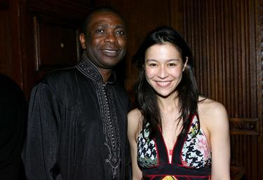 "Youssou N'dour and Director Elizabeth Chai Vasarhelyi at the after party of the New York premiere of ""Youssou N'dour: I Bring What I Love."""