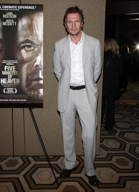 "Liam Neeson at the New York premiere of ""Five Minutes of Heaven."""