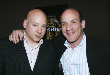 "Evan Handler and Paul Ben-Victor at the premiere screening of ""The Shield."""