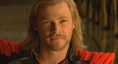 "Chris Hemsworth as Thor in ""Thor."""