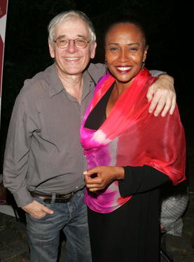 "Austin Pendleton and Jenifer Lewis at the after party for The Public Theater premiere of ""Mother Courage And Her Children."""