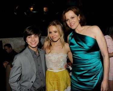 "Billy Unger, Kristen Bell and Sigourney Weaver at the after party of the premiere ""Your Again."""