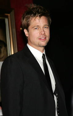 "Brad Pitt at the N.Y. premiere of ""The Good Shepherd."""