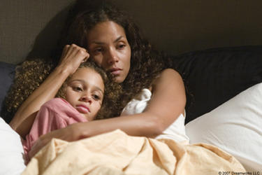 "Alexis Llewellyn and Halle Berry in ""Things We Lost in the Fire."""