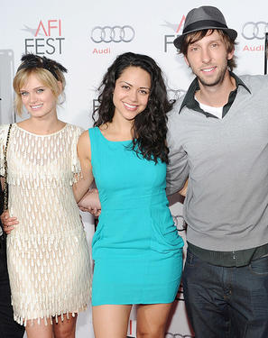 "Sara Paxton, Alyssa Diaz and Joel Moore at the red carpet of the premiere of ""Blue Valentine"" during the AFI FEST 2010."