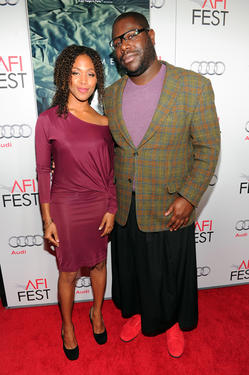 "Nicole Beharie and writer/director Steve McQueen at the California premiere of ""Shame"" during the AFI FEST 2011."