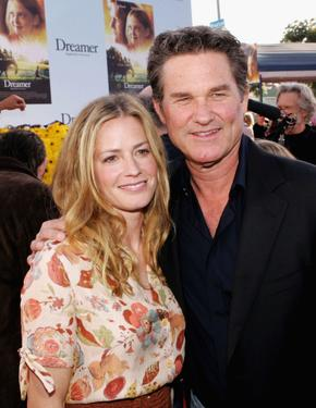 "Kurt Russell and Elisabeth Shue at the premiere of DreamWork's ""Dreamer""."