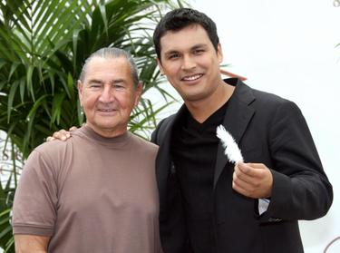 "August Schellenberg and Adam Beach at the photocall of ""Bury My Heart at Wounded Knee"" during the 47th Monte Carlo Television Festival."