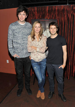 "Nicholas Braun, Kerry Bishe and Michael Angarano at the ""The Red State"" tour launch in New York."