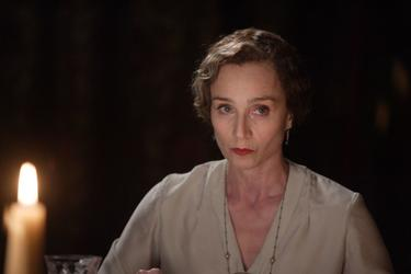 "Kristin Scott Thomas as Mrs. Whittaker in ""Easy Virtue."""