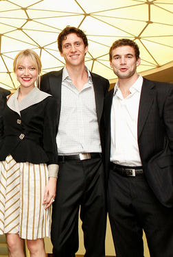 "Georgina Haig, T.J. Power and Alex Russell at the Canada premiere of ""Wasted On The Young"" during the 35th Toronto International Film Festival."