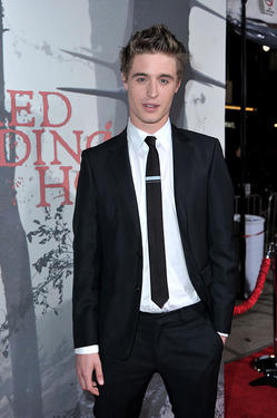 "Max Irons at the California premiere of ""Red Riding Hood.''"