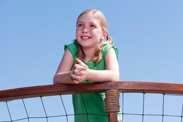 "Cozi Zuehlsdorff as Hazel Haskett in ""Dolphin Tale."""