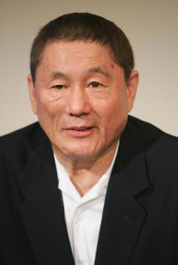 Beat Takeshi Kitano at the Jaeger Le-Coultre award party of the 64th Annual Venice Film Festival.