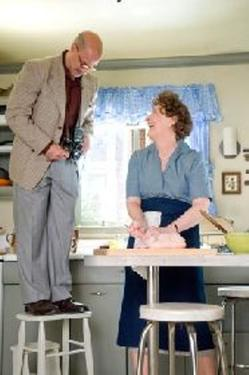"Stanley Tucci as Paul Child and Meryl Streep as Julia Child in ""Julie & Julia."""