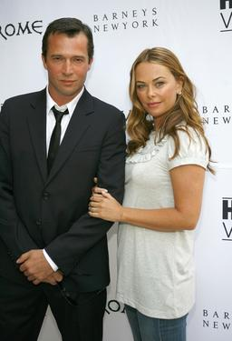 "Polly Walker and James Purefoy at a cocktail reception to celebrate the DVD release of ""Rome: The Complete Second Season."""