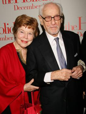 "Eli Wallach and his wife Anne Jackson at a New York premiere of ""The Holiday""."