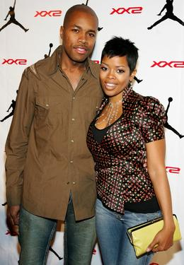 D-Nice and Malinda Williams at the celebration of Jordan Brand's launch of the Air Jordan XX2 shoe.