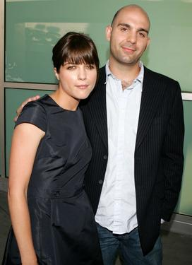 "Selma Blair and her husband Ahmet Zappa at the premiere of ""Must Love Dogs."""