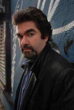 "Joe Berlinger on the set of ""Under African Skies."""