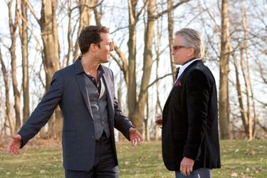 "Matthew Mcconaughey as Connor Mead and Michael Douglas as Uncle Wayne in ""The Ghosts of Girlfriends Past."""