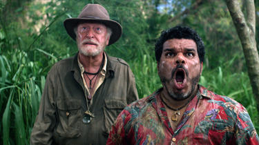 "Michael Caine as Alexander and Luis Guzman as Gabato in ""Journey 2: The Mysterious Island."""