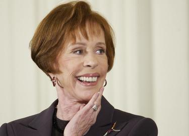 Carol Burnett attend a ceremony at the White House.