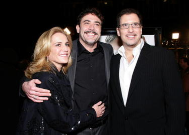 "Producer Wendy Finerman, Jeffrey Dean Morgan and Richard LaGravenese at the premiere of ""P.S. I Love You."""