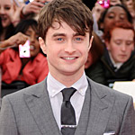"Daniel Radcliffe at the London premiere of ""Harry Potter and the Deathly Hallows: Part 2."""