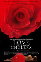 "Poster art for ""Love in the Time of Cholera."""