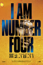 "Poster art for ""I Am Number Four."""